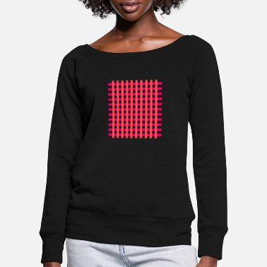 Primal grid - Women's Wide-Neck Sweatshirt