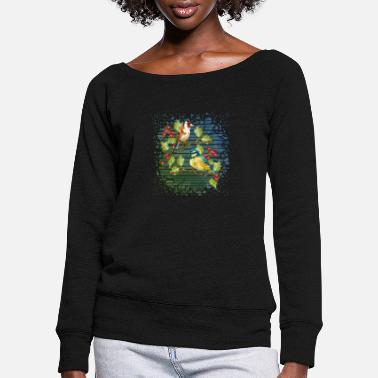 Die Colorful birds - Women's Wide-Neck Sweatshirt