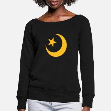 Symbol Islam - Women's Wide-Neck Sweatshirt