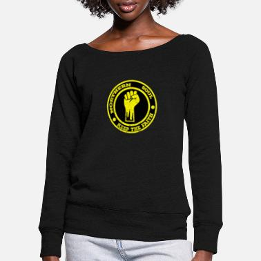 Northern Soul Northern Soul Keep the Faith - Women's Wide-Neck Sweatshirt