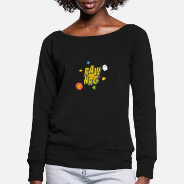 Raw Nrg comic 1 - Women's Wide-Neck Sweatshirt