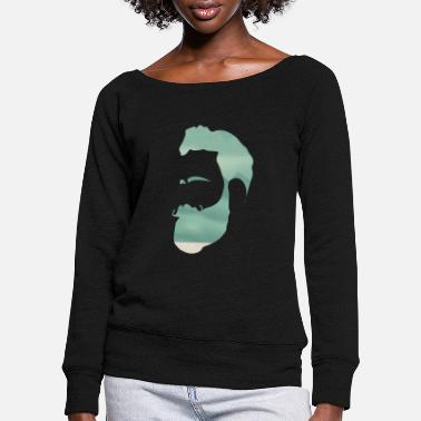 Indie Indie climber - Women's Wide-Neck Sweatshirt