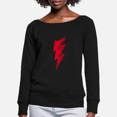 Lightning lightning - Women's Wide-Neck Sweatshirt
