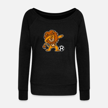 Orange Dab Dabbing Lion Dutch Football Netherlands Orange - Frauen Pullover mit U-Ausschnitt