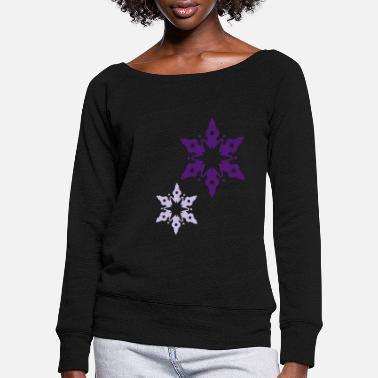 Snow Crystal A snow crystal - Women's Wide-Neck Sweatshirt