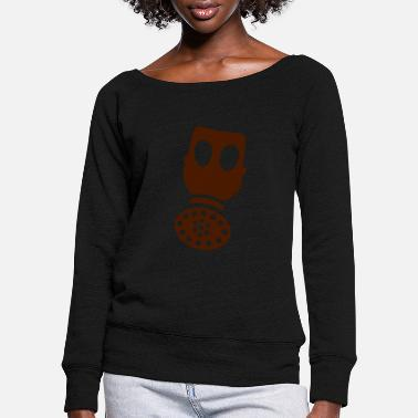 Gas Gas, gas mask - Women's Wide-Neck Sweatshirt