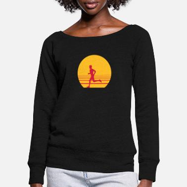 Sprinten Runner Sundown - Women's Wide-Neck Sweatshirt