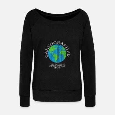 Cartography Cartography world - Women's Wide-Neck Sweatshirt