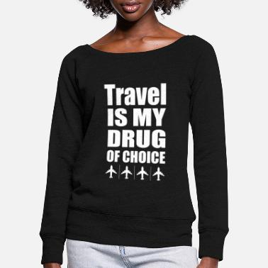 Travel Travel - Women's Wide-Neck Sweatshirt
