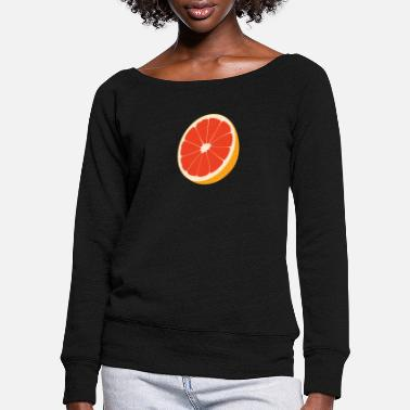 blood oranges - Women's Wide-Neck Sweatshirt