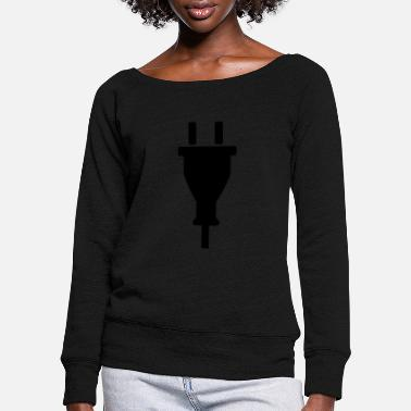 Plug Plug - Women's Wide-Neck Sweatshirt