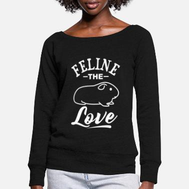 Fond Of Animals Meersau guinea pig hamster pet fond of animals - Women's Wide-Neck Sweatshirt