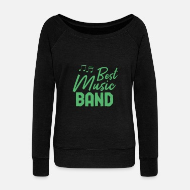 Band Music band band member band band school band - Women's Wide-Neck Sweatshirt