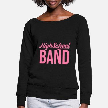 Band Music band Music band Music band Music band - Women's Wide-Neck Sweatshirt