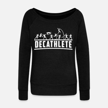 Athlete Athletics athlete shirt gift athlete - Women's Wide-Neck Sweatshirt