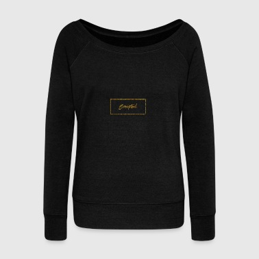 Scipted. Box Logo Gold - Women's Boat Neck Long Sleeve Top
