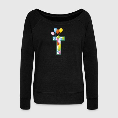 T balloons - Women's Boat Neck Long Sleeve Top