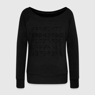 Filled and Empty Dots - Women's Boat Neck Long Sleeve Top