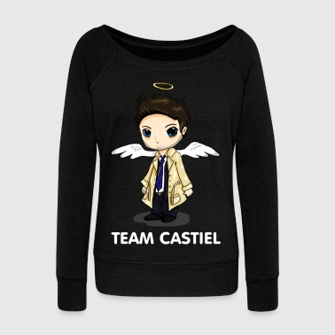 Team Castiel (dark) - Women's Boat Neck Long Sleeve Top