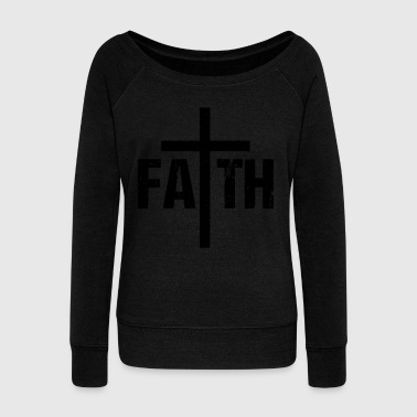 Faith faith confidence confidence vector - Women's Boat Neck Long Sleeve Top
