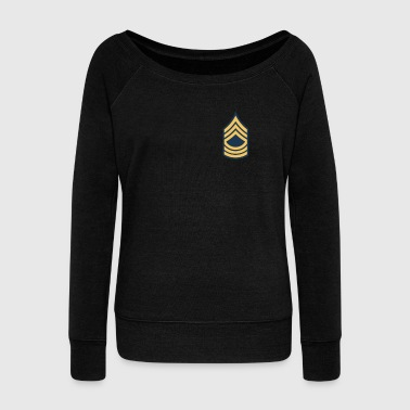 US Army Master Sergeant OR8-E8 - Women's Boat Neck Long Sleeve Top