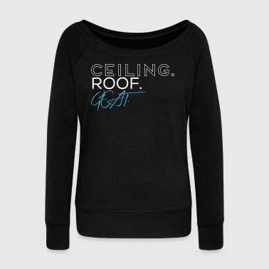 Ceiling Roof Goat Basketball T-Shirt - Women's Boat Neck Long Sleeve Top