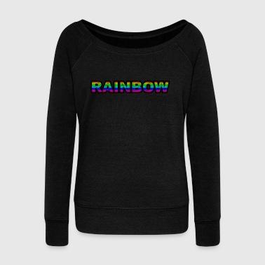 Rainbow - Women's Boat Neck Long Sleeve Top
