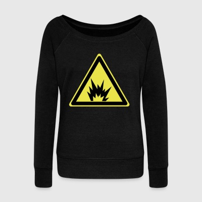 Attention Explosive - Women's Boat Neck Long Sleeve Top