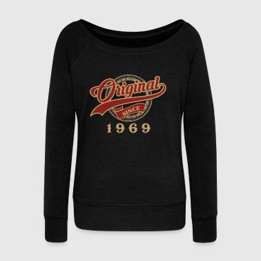 Original since 1969 - vintage gift birthday - Women's Boat Neck Long Sleeve Top