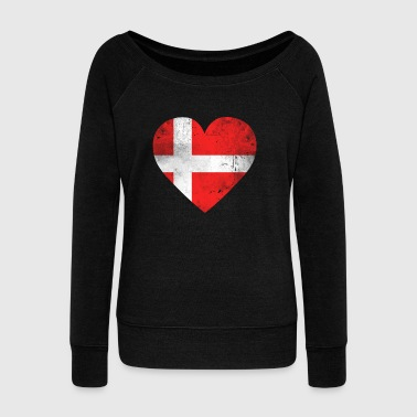 Gift Denmark flag danish flag danish - Women's Boat Neck Long Sleeve Top