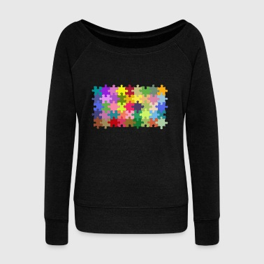 puzzle - Women's Boat Neck Long Sleeve Top