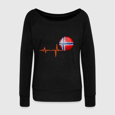 Heartbeat Norway Ball Gift - Women's Boat Neck Long Sleeve Top