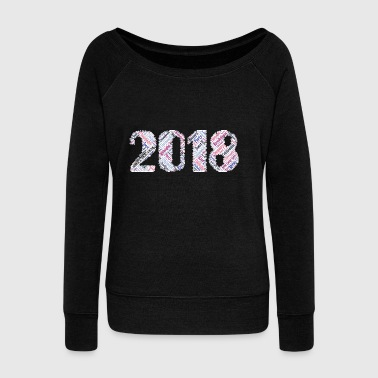 2018 Happy New Year Happy new year - Women's Boat Neck Long Sleeve Top