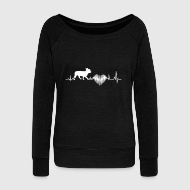 Chihuahua Heartbeat Shirt - Women's Boat Neck Long Sleeve Top