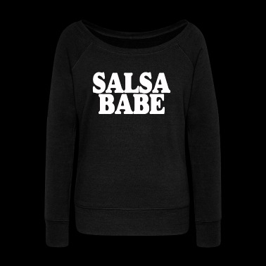 SALSA BABE - Women's Boat Neck Long Sleeve Top