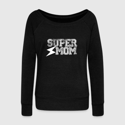 Super Mom - Mum Power! - Women's Boat Neck Long Sleeve Top