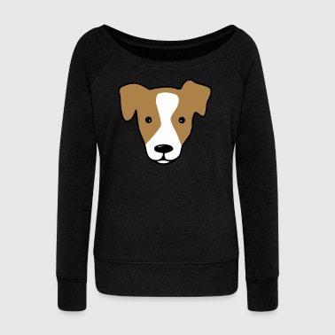6061912 127733234 Jack Russell - Women's Boat Neck Long Sleeve Top