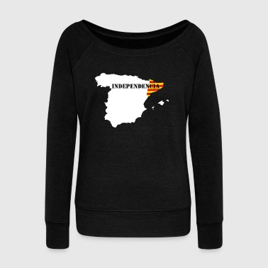 Catalan independence - Women's Boat Neck Long Sleeve Top