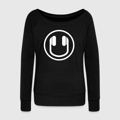 Headphone :) - Women's Boat Neck Long Sleeve Top