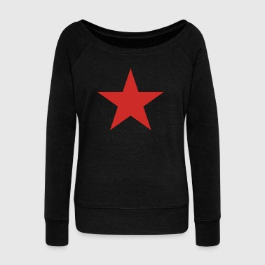 RED STAR - Women's Boat Neck Long Sleeve Top