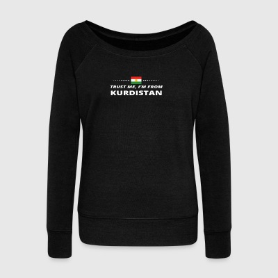 Trust me from proud gift KURDISTAN COURSE - Women's Boat Neck Long Sleeve Top