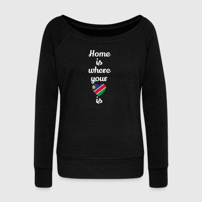gift home heart love love Namibia - Women's Boat Neck Long Sleeve Top