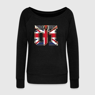 brother brother brother 01 partner England - Women's Boat Neck Long Sleeve Top