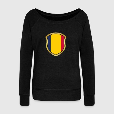 World Champion Champion 2018 wm team Chad png - Women's Boat Neck Long Sleeve Top
