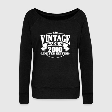 Vintage made in 2000 - Women's Boat Neck Long Sleeve Top