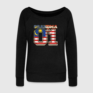Grandma grandma queen 01 family malaysia - Women's Boat Neck Long Sleeve Top