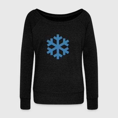 snow flake - Women's Boat Neck Long Sleeve Top