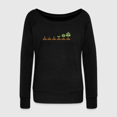 Seed row crops - Women's Boat Neck Long Sleeve Top
