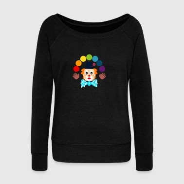 Clown juggling - Women's Boat Neck Long Sleeve Top