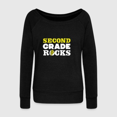 Second Grade Rock T-Shirt - Women's Boat Neck Long Sleeve Top